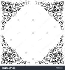 vector indian floral ornament border mandala stock vector