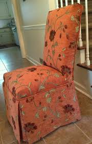Orange Parsons Chair Pam Morris Sews Slipcovers