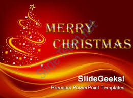 merry christmas festival powerpoint background template 1210