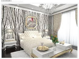 white and black 3d tree art wall paper background decor wallpaper