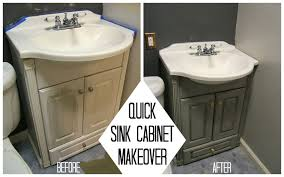 nine red quick sink cabinet makeover