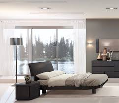 minimalist bedroom design ideas comes with black wooden double bed