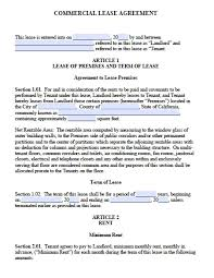 Termination Of Lease Letter California Commercial Lease Agreement Template