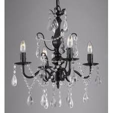 Chandelier With Black Shades Crystal Chandeliers You U0027ll Love Wayfair