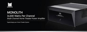 home theater receiver clearance monolith 3x200 watts per channel multi channel home theater power