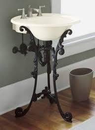 Kohler Pedestal Bathroom Sinks Single Sink Pedestals Bath Sink Consoles Wrought Iron Stands