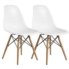 Plastic Wood Chairs Amazon Com Designer Modern Plastic Dining Side Chair Woodleg