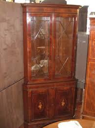 english bench made inlaid flame mahogany u201cadam u201d style corner cupboard