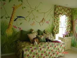 bedroom cheerful look of wallpaper murals for bedrooms wallpaper bedroom agreeable decorating ideas using green motif loose curtains and rectangular white wooden cabinets also