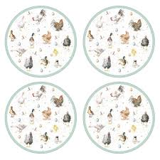 pimpernel wrendale farmyard friends placemats set of 4