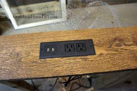 diy wood charging station console table charging station for behind our sofa diy build project