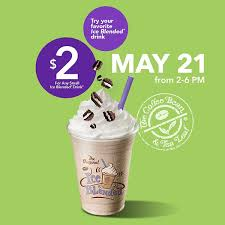 Coffee Bean Blended 2 small blended drinks at coffee bean tea leaf today dine 909