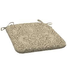 Garden Treasures Chair Cushions by Shop Garden Treasures Damask Universal Seat Pad At Lowes Com