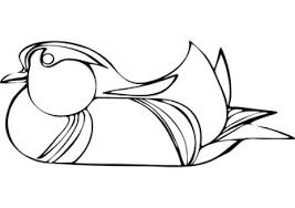 download free swimming duck coloring book