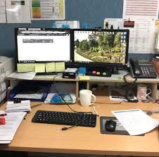 Office Desk Set Up Lets See Your Office Desk Setup Water Cooler Spiceworks