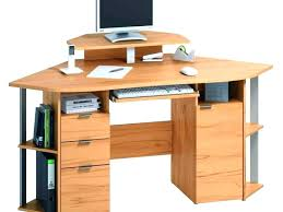 Oak Corner Computer Desk Small Computer Corner Desk Bethebridge Co