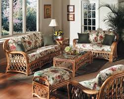 Country Living Room Chairs by Country Living Room With Rattan Sofa And Floral Fabric Sofa
