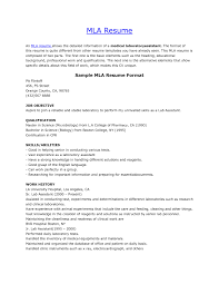 how do you format a resume mla resume format pertamini co