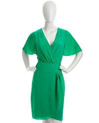 bcbgmaxazria pleated silk wrap dress emerald green