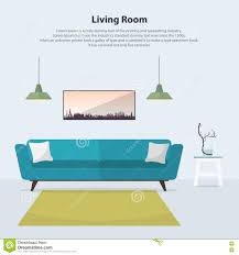 Interior Blue Modern Living Room Sofa Couch Design Interior Stock Images Image