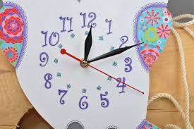 Funky Wall Clocks Madeheart U003e Beautiful Handmade Wall Clock Plywood Funky Clock Gift