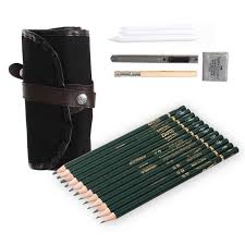 high quality 18pcs student stationery sketch pencil set for