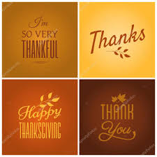 happy thanksgiving notes thanksgiving cards collection u2014 stock vector ivaleks 31241233