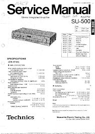 technics su 500 sm 1 service manual download schematics eeprom