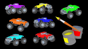 learn colors learn count mighty monster trucks