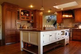 wood kitchen cabinets with white island cherry cabinet kitchen