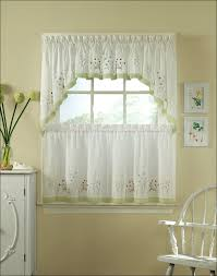 Kitchen Sheer Curtains by Kitchen Waterfall Valance Red Valance Red Sheer Curtains Swag