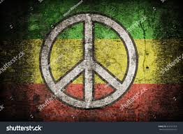 Rasta Flags Rasta Flag Pattern Peace On Dirty Stock Illustration 262167353