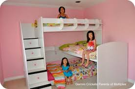 Three Person Bunk Bed We The Trifecta Loft Bed For Three Mad About Multiples