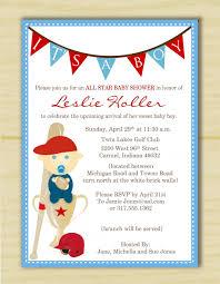 template baseball baby shower invitations