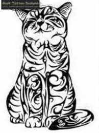 cat tattoo 9jpg not a big tribal fan but this is cool just neat