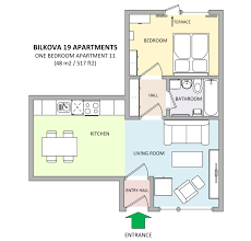 one bedroom apartment in apartments bilkova make reservation floor