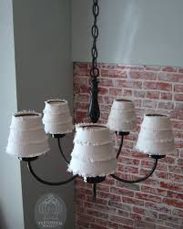 diy double dip flip chandelier lamp shades tarnished royalty