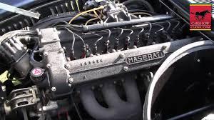 maserati v12 engine 1966 maserati mistral engine running carshowclassic com youtube