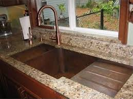 kitchen sinks ideas customized kitchen sink made of copper with drying rack striking