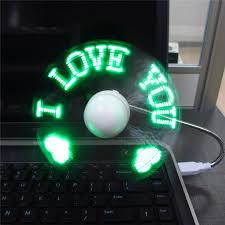 diy gadget mini usb fan led light programmable led cooler
