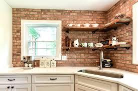 faux brick backsplash in kitchen brick backsplash kitchen brick kitchen modern kitchen modern brick