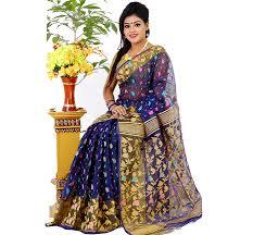 bangladeshi jamdani saree online exclusive design half silk jamdani saree jl867 priyoshop