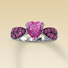 kay jewelers class rings kay clearance lab created pink sapphire heart ring