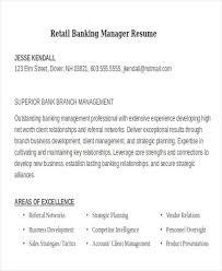 Resume Templates For Retail 21 Banking Resume Templates Free U0026 Premium Templates