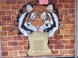 nokesville va brentsville district high school mascot mural tiger pride mural at bdhs