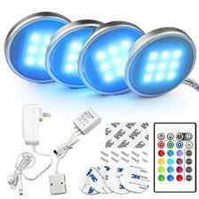 led puck lights amazon led kitchen under cabinet lighting kit for cabinet bookshelf
