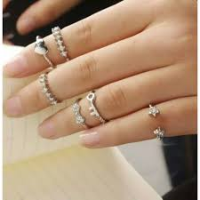 knuckle finger rings images 9019 6pcs set finger rings set heart bowknot mid knuckle silver ring jpg