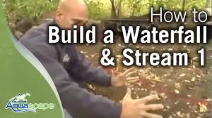 how to build a waterfall and stream part 1 youtube