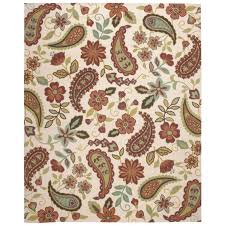 Paisley Area Rug Floral Paisley Area Rug 8 X10 610114135