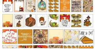 free thanksgiving mini planner stickers